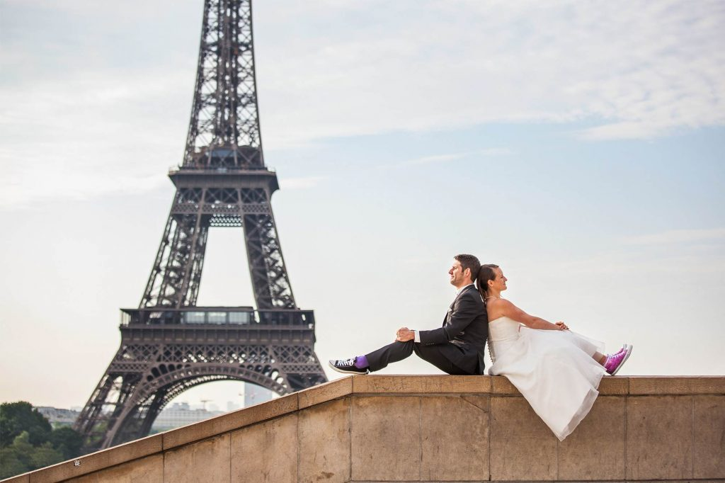 Eiffel Tower wedding shooting photographer