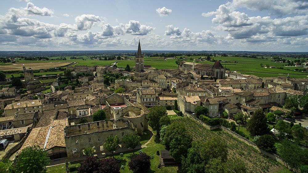 Saint-Emilion-aerial photographer bordeaux