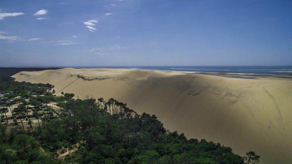 aerial photo Dune du Pilat photography