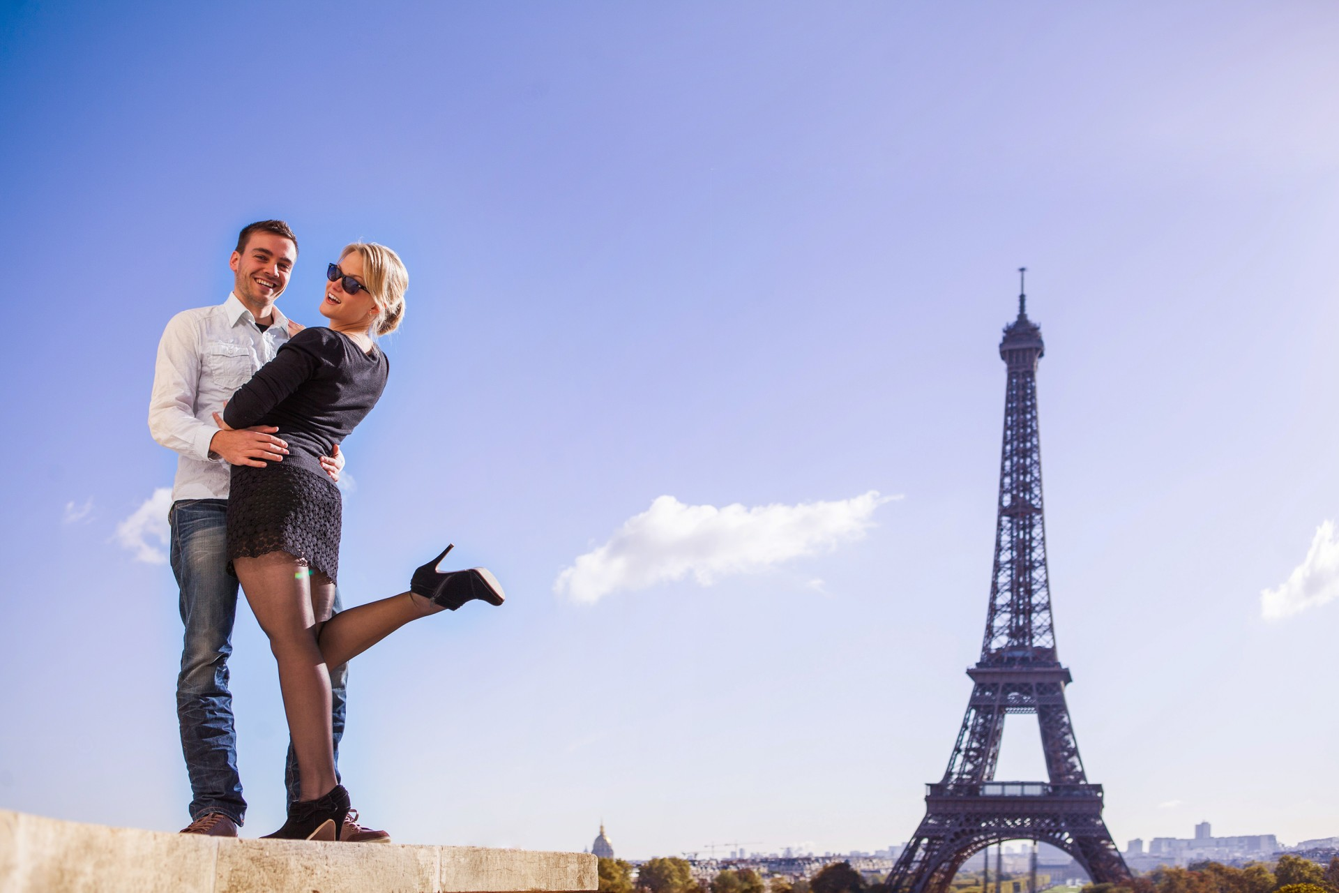 Engagement in paris photographer